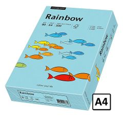 Hartie A4 Rainbow, 80 g/mp, 500 coli/top, albastru