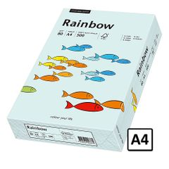 Hartie A4 Rainbow, 80 g/mp, 500 coli/top, albastru pastel