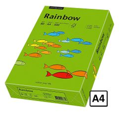 Hartie A4 Rainbow, 80 g/mp, 500 coli/top, verde intens