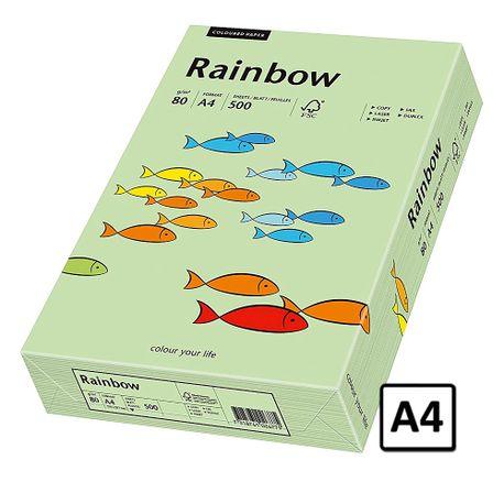 Hartie copiator, A4, 80gr/mp, verde mediu, 500coli/top, Rainbow