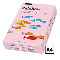 Hartie A4 Rainbow, 80 g/mp, 500 coli/top, roz pastel