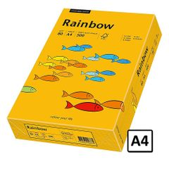 Hartie A4 Rainbow, 80 g/mp, 500 coli/top, portocaliu