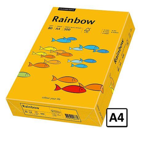 Hartie A4 Rainbow, 80 g/mp, 500 coli/top, portocaliu