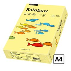 Hartie A4 Rainbow, 80 g/mp, 500 coli/top, galben pastel