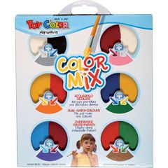Acuarele Toy Color Colour Mix, 12 culori