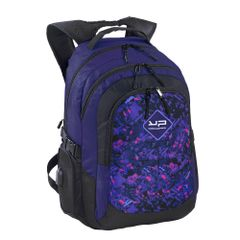 Rucsac laptop Bodypack fulger, 2 compartimente, port USB, violet