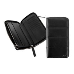 Portofel calatorie Nava Passenger Leather, negru