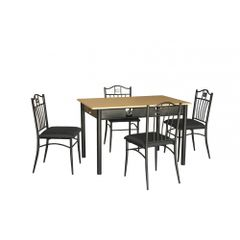 Set-masa-Rimini---4-scaune-MDF-negru