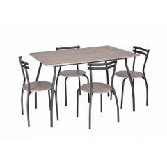 Set-masa-Vega---4-scaune-MDF-stejar
