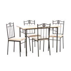 Set-masa-Victory---4-scaune-MDF-natur