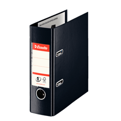 Biblioraft-Esselte-No.1-Power-VIVIDA-PP-A5-7.5-cm-negru