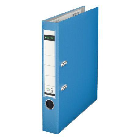 Biblioraft-Leitz-cu-mecanism-180-A4-5.2-cm-albastru-deschis