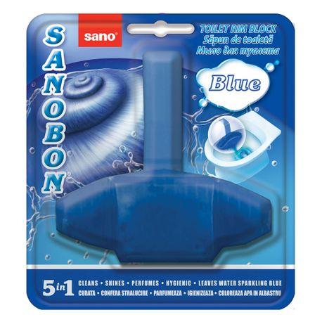 Odorizant vas toaleta Sano Bon Blue 5 in 1, 55 gr