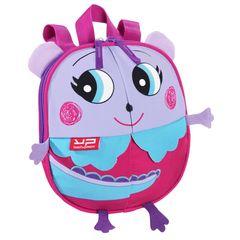 Ghiozdan prescolar Bodypack Dino, roz