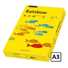 Hartie A3 Rainbow, 80 g/mp, 500 coli/top, galben intens