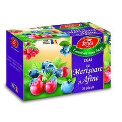 Ceai Fares Afine si Merisor, 20 plicuri/cutie