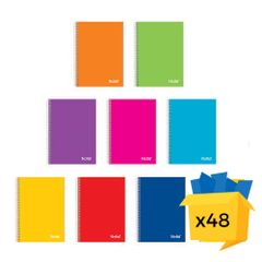 Caiet Notte School, A4, cu spira, 60 file, matematica, 48/bax