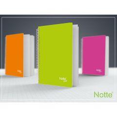 Caiet Notte Trend, A4, coperta PP, cu spira, 80 file, matematica