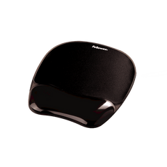 Mouse pad Fellowes cu suport gel, negru