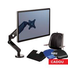Brat monitor + suport spate Mesh + suport picioare Microban G + mousepad gel, Fellowes