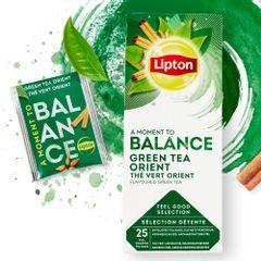 Ceai Lipton verde Orient, 25 plicuri/cutie