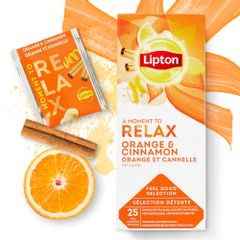 Ceai Lipton infuzie portocale si scortisoara, 25 plicuri/cutie