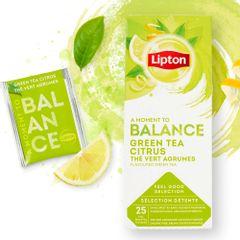 Ceai Lipton verde cu aroma de citrice, 25 plicuri/cutie