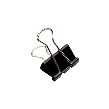 Clipsuri metalice, 51 mm, negru, 12 bucati/set