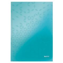Caiet de birou Leitz WOW, A4, coperta dura, 80 file, dictando, turcoaz metalizat