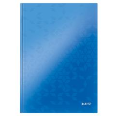 Caiet de birou Leitz WOW, A4, coperta dura, 80 file, matematica, albastru metalizat