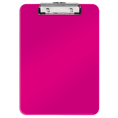 Clipboard simplu Leitz WOW, A4,  roz metalizat
