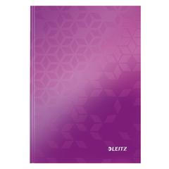 Caiet de birou Leitz WOW, A5, coperta dura, 80 file, dictando, mov metalizat